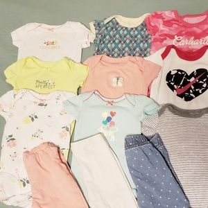 16 piece bundle 6 month baby girl lot spring